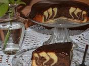 Bizcocho cebra plátano chocolate