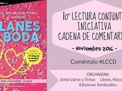 Lectura Conjunta Cadena Comentarios: Planes Boda Blog Doctora Jomeini: Desenlace González Luque