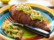 Boniatos hasselback guacamole