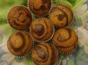 Muffins zebrés banane banana zebra muffins cebra مافن الموز مخطط بالكاكاو