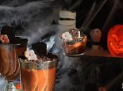 Mousse chocolate para Halloween