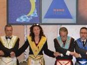 Nieves Bayo Gallego. Gran Maestra GLSE, inauguración templo «Roger Leveder»