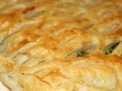 Hojaldre espinacas queso cabra