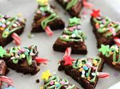 Brownies estilo árbol Navidad