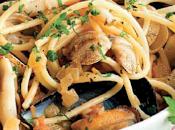 Espaguetis sepia, mejillones almejas