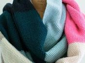 Inspiración bufandas colores patrones gratis