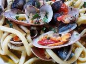 Espaguetis almejas concha fina Scialatielli datterini, fasolare vongole
