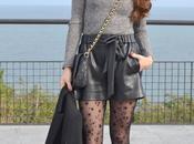 Jersey lace short polipiel