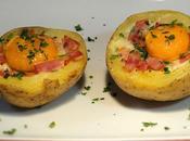Nidos patatas beicon horno