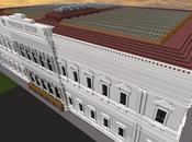 Réplica Minecraft: Palacio Justicia Isla, Burgos, España.