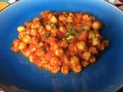 Garbanzos estilo Chana Masala (cocina India)