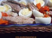 Ensalada Pimiento Rojo Asado Melva Huevos Codorniz