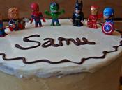 Tarta Superhéroes Samu cumple años