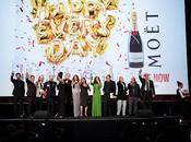 "Moët Chandon viste gala para asistir première película Reina España""."
