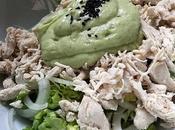 Ensalada pollo mayonesa ligera aguacate