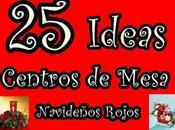 Ideas Centros Mesa Navideños. Rojos.. Christm Centerpiece