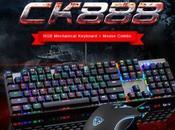 Venta flash combo teclado mecánico gaming Motospeed CK888 ratón