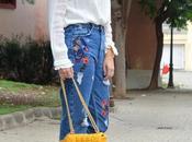 Look jeans bordados