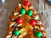 Árbol navideño hojaldre nutella