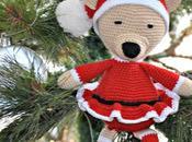ganchillo vestida para navidad