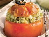 Tomates asados rellenos arroz