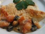 Pechugas pollo salsa aceitunas anchoas