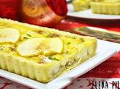 Tarta salada camembert, cebolla caramelizada manzana