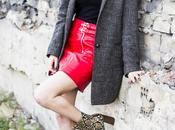 biker leather skirt