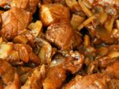 Carne Pavo champiñones