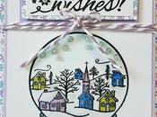 Scrapbooking tarjeta: Winter wishes