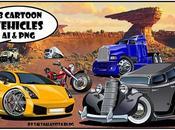 Pack Vehículos Caricaturizados Formato Vector