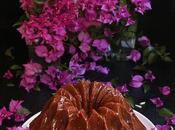 Bundt Cake turrón Jijona glaseado caramelo