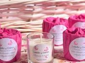Detalles personalizados para comuniones; velas, bálsamos, jabones.