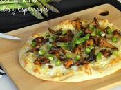 Pizza Blanca Rebozuelos Espárragos