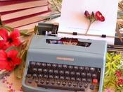 Máquina escribir para boda vintage romántica.