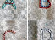 Abecedario bordado Embroidered alphabet