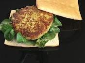 Hamburguesa vegetariana calabacín queso