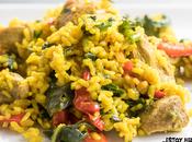 Receta arroz campero cerdo espinacas (arroz sartén)