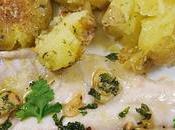 LUBINA HORNO PATATAS ESPECIADAS (Healthy Fish dish)