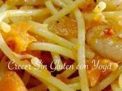 Espaguetis gluten gambas salmón