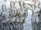 Toque trompeta campamento romano.