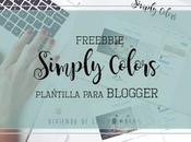 Freebie: Plantilla/Template para blogger {Simply Colors}