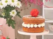 Victoria sponge cake. tarta fácil vainilla, fresas nata