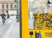Marquesinas transformadas máquinas gancho para promocionar película Lego Batman