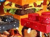 restaurante sirve hamburguesas forma LEGO