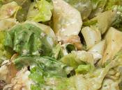 Ensalada pollo uvas salsa mostaza, lemon curd especias