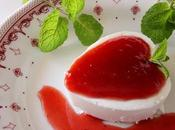 Mousse yogur coulis fresas