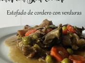 COCINAR SLOW COOKER. Receta Guiso cordero verduras