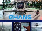 China presenta mundo primer drone ecológico para pasajeros