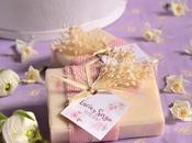 Jabones florales, detalles para bodas románticas vintage.